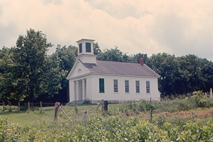 8. This is a shot of an abandoned church in Mount Ida in 1975.
