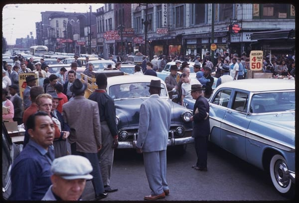 4. Yes, there were significant traffic jams in Chicago back in 1958.