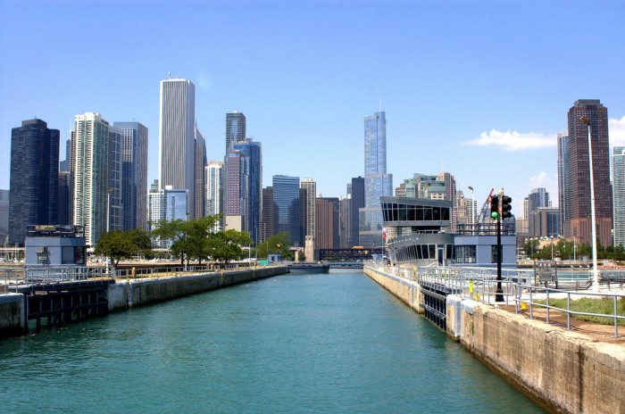 5. The Chicago River flows backwards!