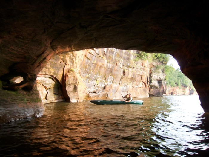 9. If you're brave, kayak through the caves.