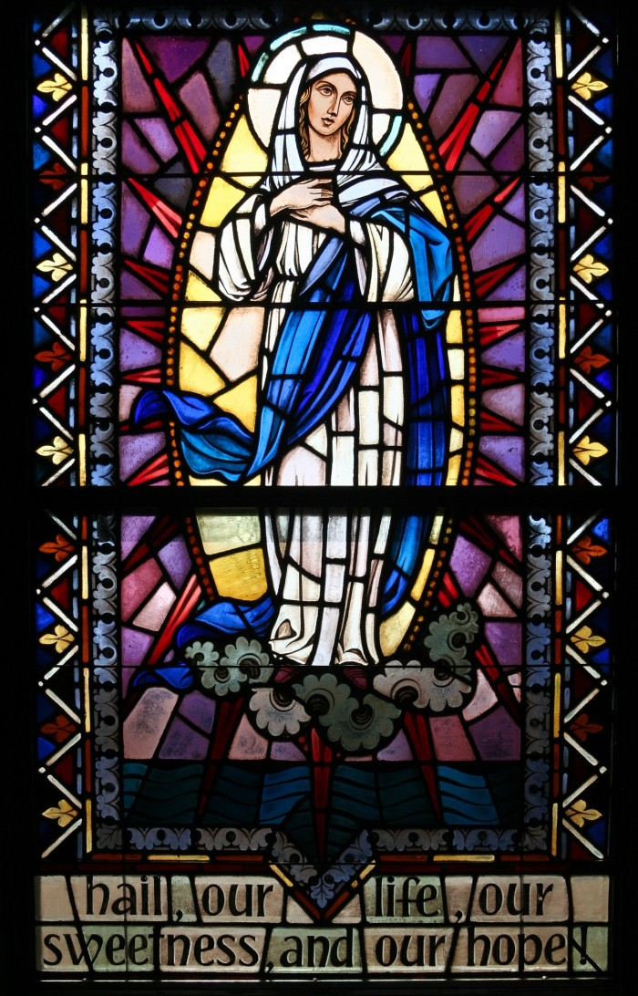 4. Beautiful stained glass makes this church even more gorgeous.