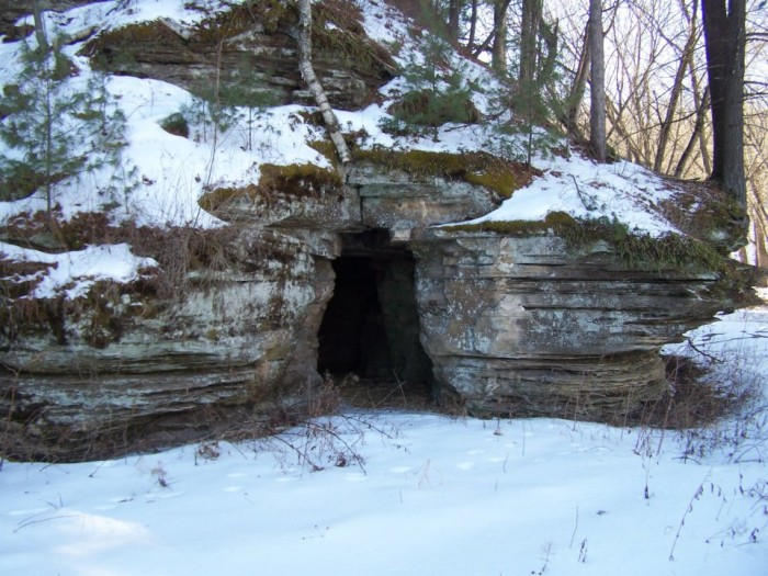 10. Or going in this cave.