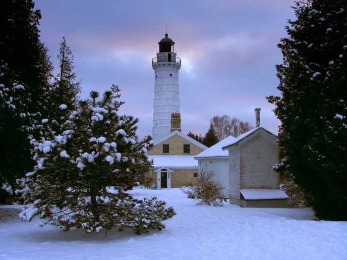 4. Here is a nice shot of Cana Island Lighthouse in the winter.