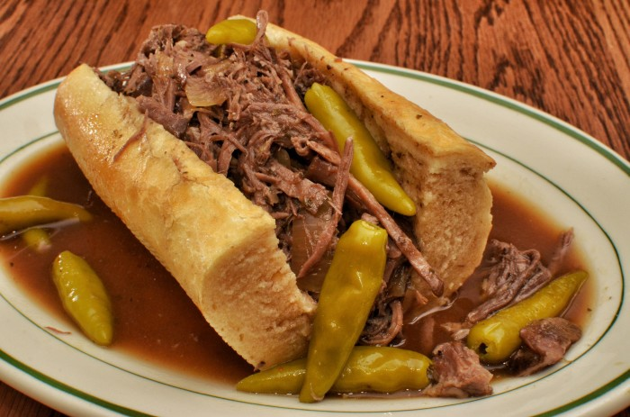 4. Italian beef sandwich