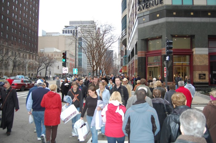 8. Downtown shopping on December 23