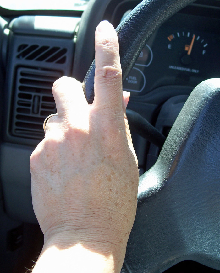 1. When your car has been sitting in the heat all day and you can't touch the steering wheel without suffering third degree burns.