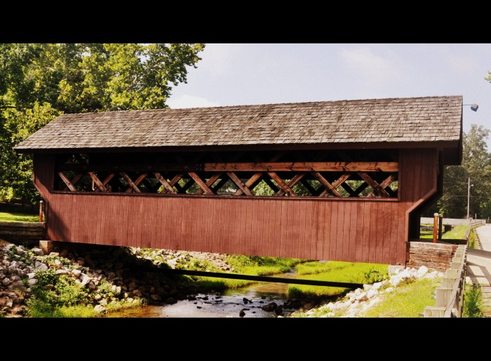 "1. Aside from being home to spring water that has been rated the ""best in the United States,"" Iuka's Mineral Springs Park is the site of this picture-perfect covered bridge."