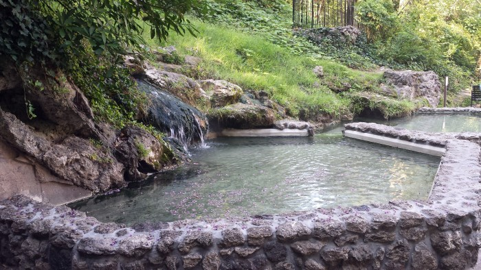 1. Here is a spring flowing into a man-made pool in the National Park.