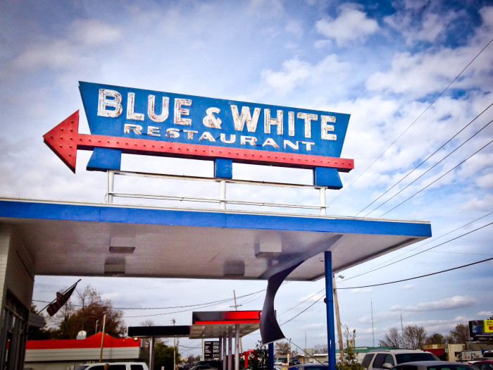 Day 1 Breakfast: The Blue and White Restaurant, Tunica