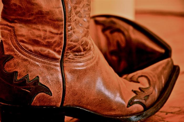 1. Cowboy boots.