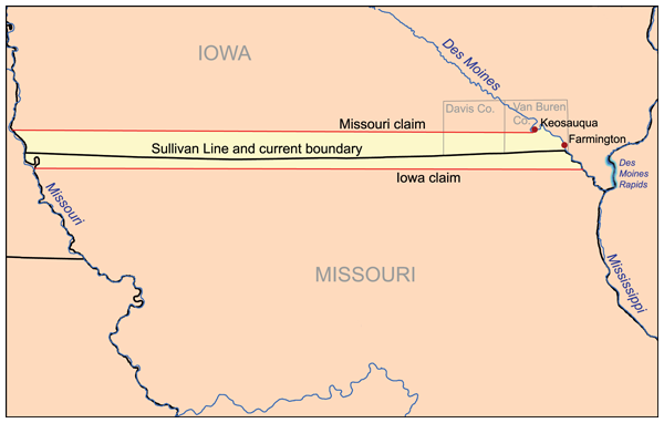 1. Iowa and Missouri once went to war with each other. The Honey War was a bloodless dispute over territory which led to the militias facing each other, one Missouri sheriff being arrested for collecting taxes in Iowa, and three trees containing bee hives being cut down.