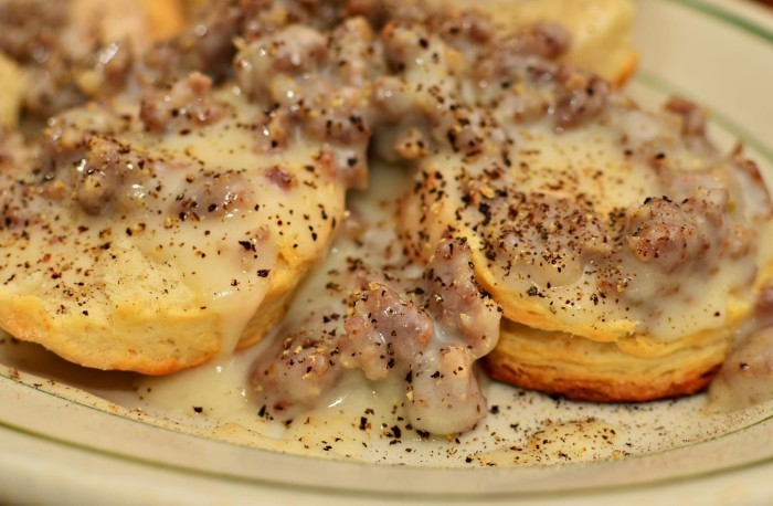 10. Biscuits with Gravy