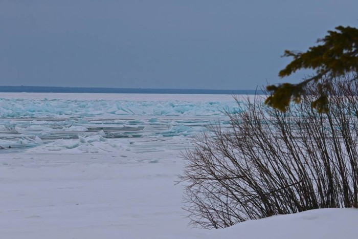 4. Wonder how far that ice stretches?