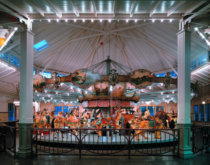 10. Meridian's Dentzel Carousel, which is a two-row antique stationary carousel, is one of only three in existence.