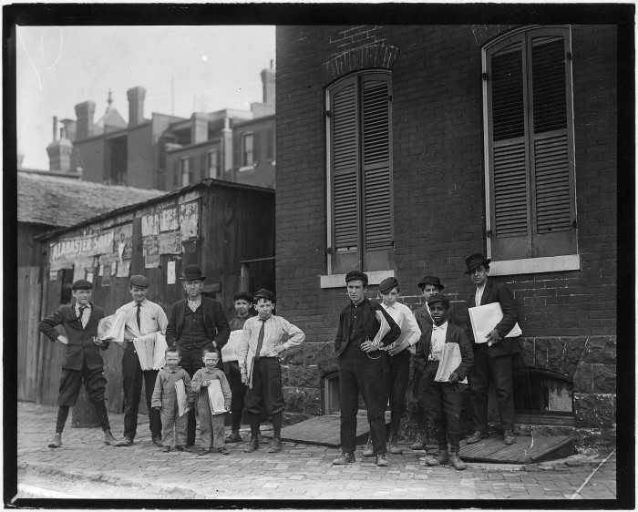 10.Johnnie Burns and his Basement Branch.  The photo also features his boy, whom he says is ungovernable. Burns says the 4-year-old twins will also be selling soon, May 1910.