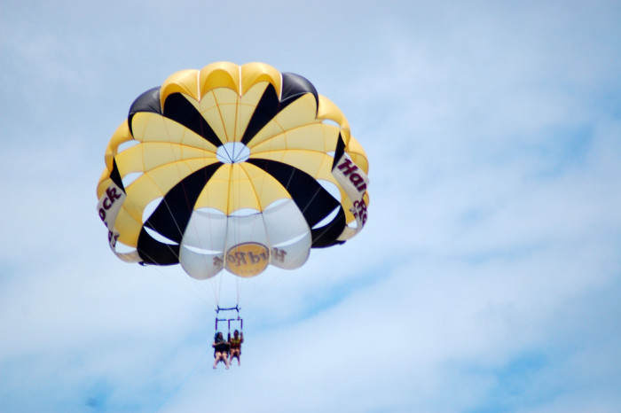 10. Take to the skies and go parasailing.