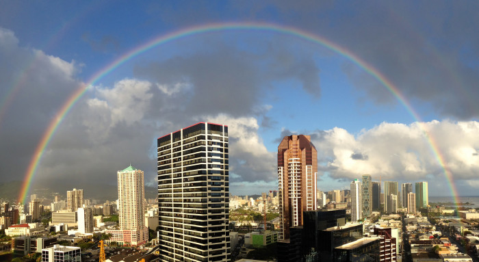 10. You don't get nearly as excited about seeing a perfect rainbow as you used to.