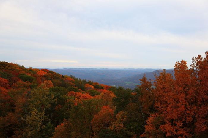 11. A dazzling mountain view.