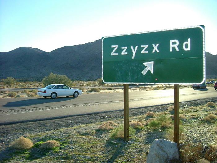 4. Zzyzx -- San Bernardino County