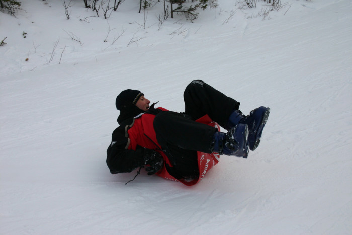 5. Gone sledding…. As an adult.