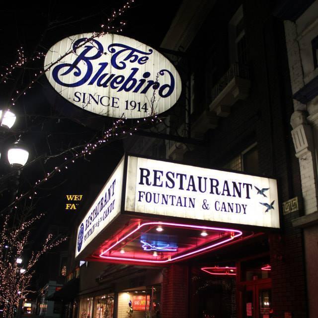 Enjoy dinner at the Bluebird Restaurant.