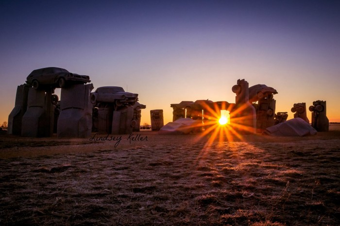 15. And we've got our very own famously quirky Carhenge.