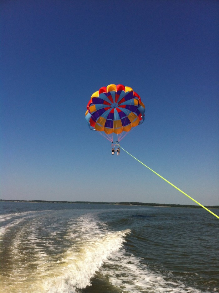12. Hop aboard a boat out of Dewey Beach to go parasailing high above Rehoboth Bay. If it's warm, ask for a dunk!