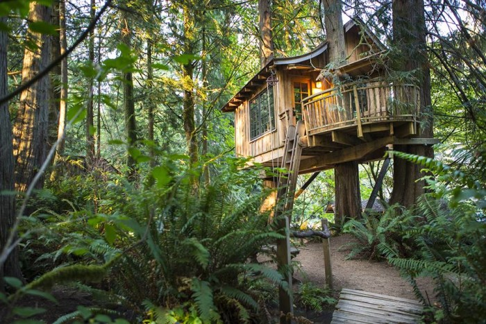 12. Spend a night at Treehouse Point in Issaquah.