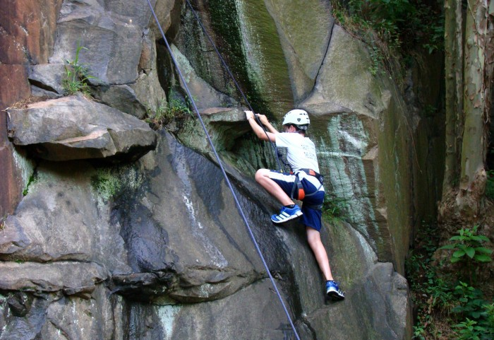 13. Strap yourself into a harness and climb real rocks at Alapocas State Park or fake ones inside at the Delaware Rock Gym.