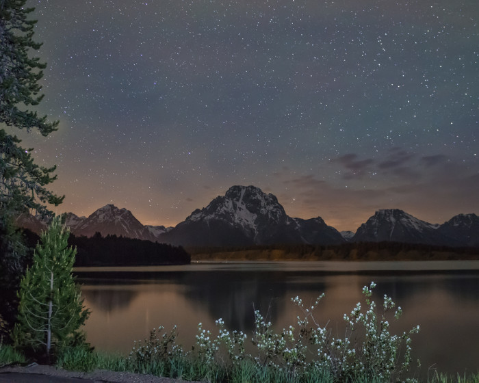 14. Jackson Lake At Night