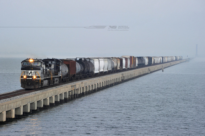 6. Louisiana has a number of record-holding bridges, the well known Causeway Bridge as well as the Huey P. Long Train Bridge (world's longest over land & river) and the even longer Norfolk-Southern Lake Pontchartrain Bridge (world's longest RR trestle over water) constructed in 1935 and 1884, respectively.
