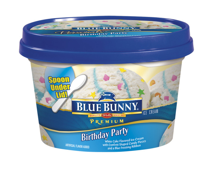 11. Blue Bunny ice cream