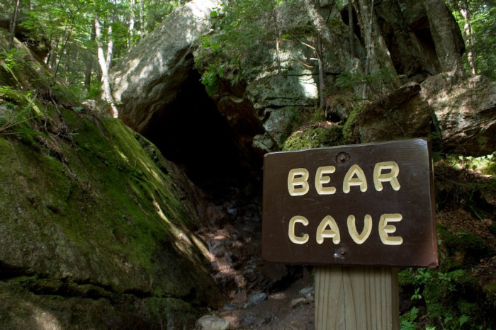 2. You may not want to venture into Bear Cave in Franconia Notch.