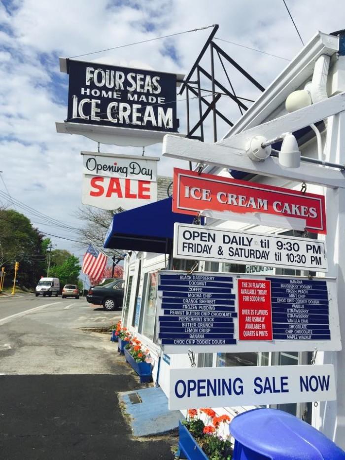 "2. Take on the Four Sea's ""Hurricane"" ice cream challenge, Centerville."