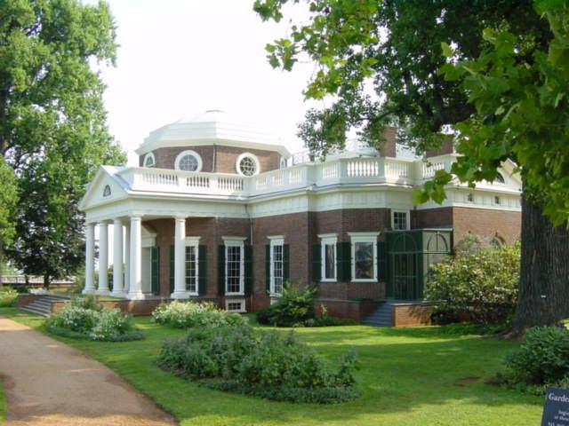 8. Red brick and white columns