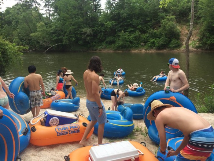 7. Take a river tubing trip on the Bogue Chitto River.