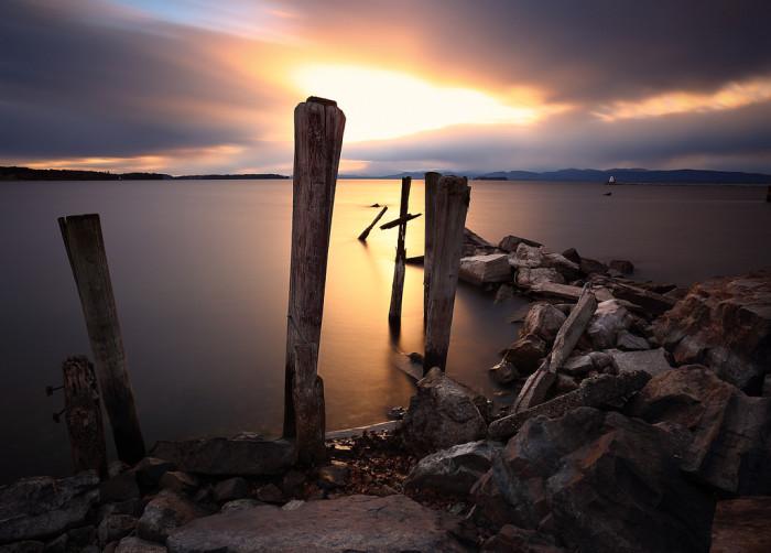 14.  Sunset on Perkins Pier.