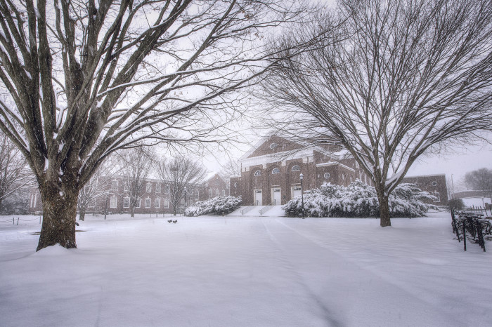 2. We just can't get enough of scenic shots of the University of Delaware in the snow.
