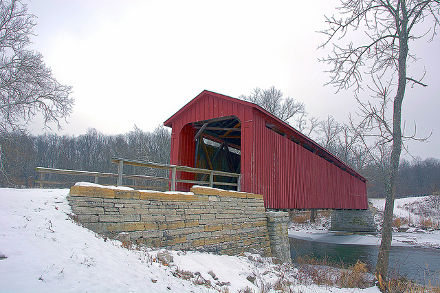7. Cataract Covered Bridge - Cataract Falls