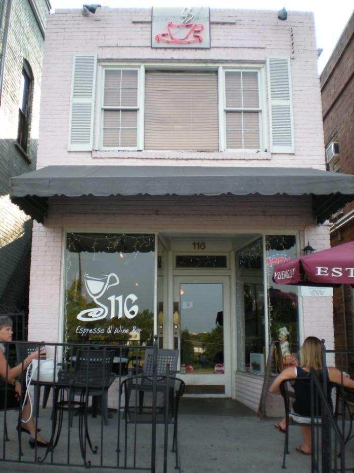 4. 116 Espresso & Wine Bar - Columbia (116 State St., West Columbia, SC)