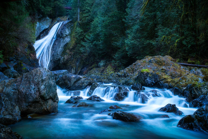 4. Take the trail to see Twin Falls.