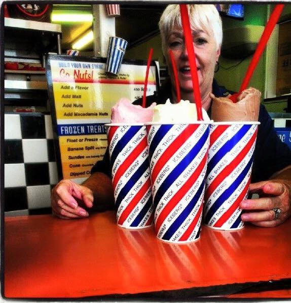 7. Time for a snack...grab a thick shake at Iceberg Drive Inn.