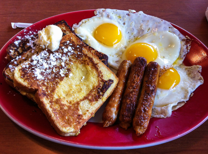 2. Sit down for a hearty breakfast from your favorite local Minnesota diner.
