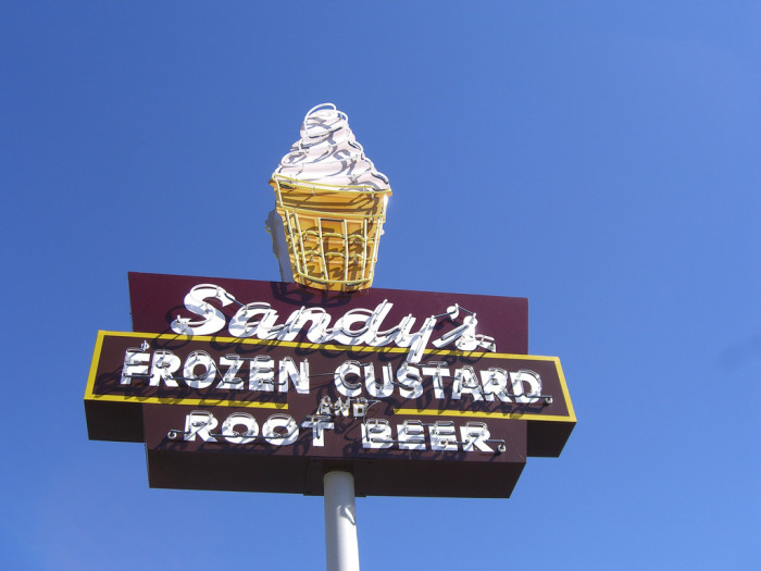 4. Sandy's is another one of those no-frills, local joints that is best for drive-thru quick eats. Treat yourself to frozen custard if you're feeling frisky.