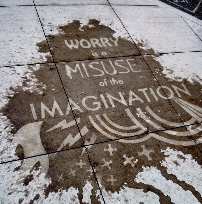 These positive messages are intended to make our rainy days a little bit brighter. They're hidden all over Seattle on sidewalks and roads, and they can only be activated by water.