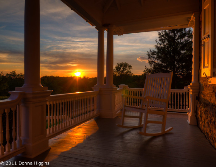 12. Sip some sweet tea while relaxing on a porch swing or a rocking chair.