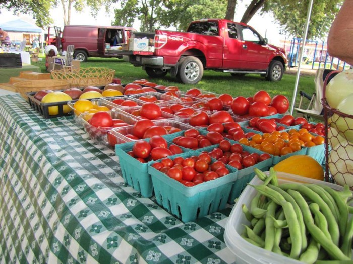 17. The summer farmers market is not just a place to buy fresh produce and local crafts; it's a gathering place for friends and neighbors.