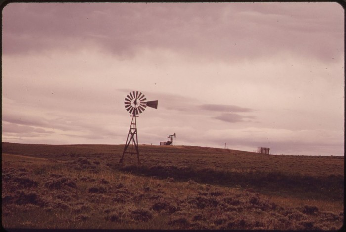 5. Windmill In The River Rolling Ranch Lands Near Powder River - 1973