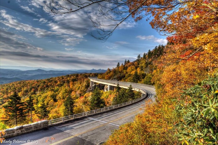 9. Drive along the Blue Ridge Parkway in fall.
