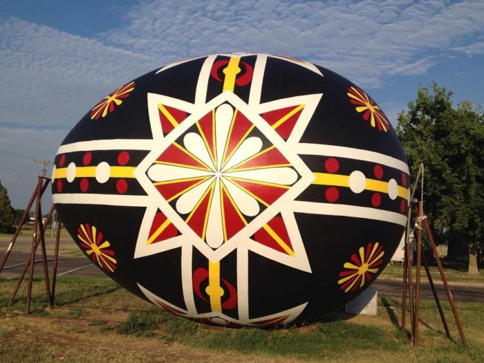 3. Let's not forget all the quirky roadside attractions that make Kansas so the unique! Today we will check out the World's Largest Czech Egg in Wilson...